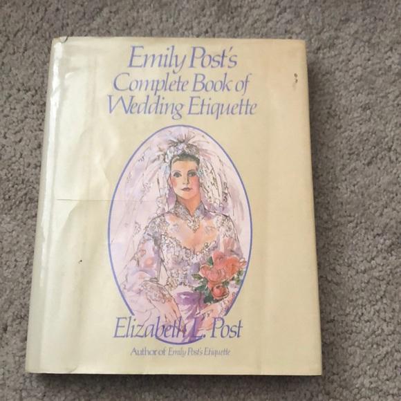 Emily Post Wedding Etiquette.Emily Post S Wedding Etiquettes Hardcover Copy